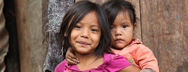 Two Guatemalan girls