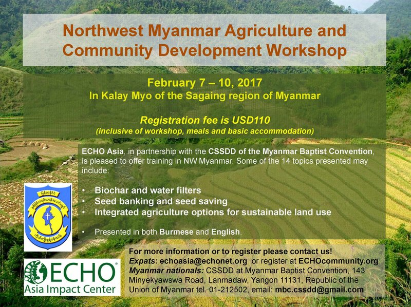 Northwest Myanmar Agriculture and Community Development Workshop