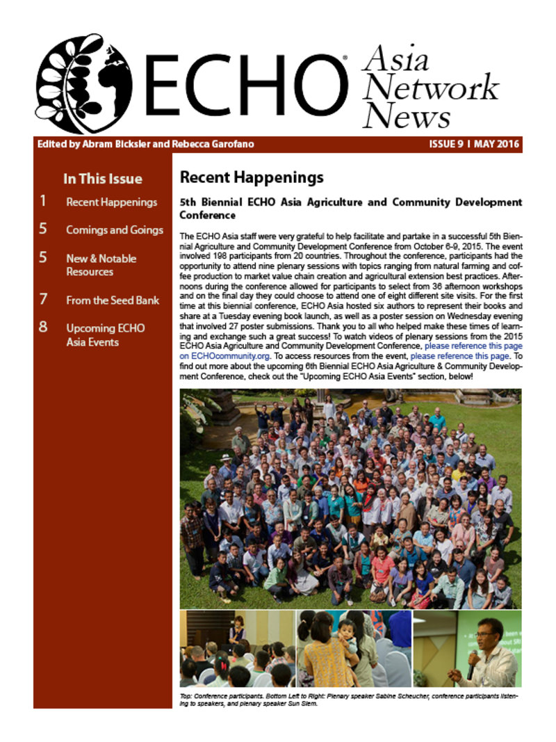 ECHO Asia News May 2016