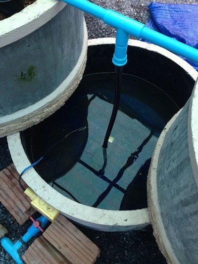 A low-cost concrete ring aquaponics system 12