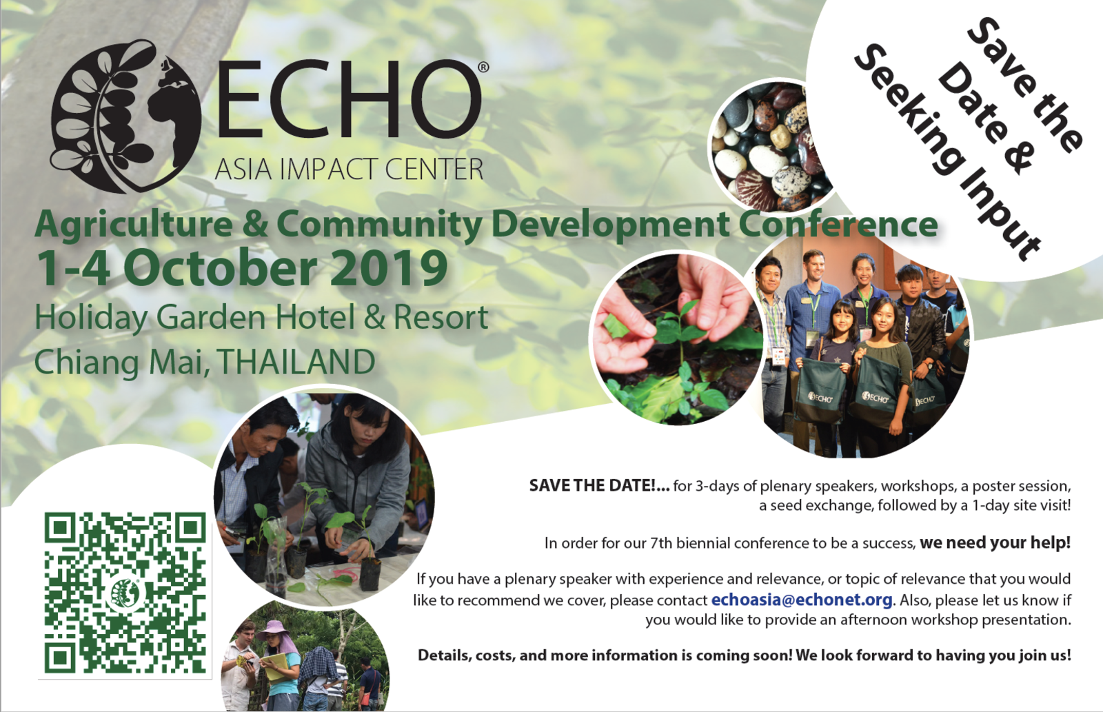 Echo asia agriculture community development conference 2019 save the date lg