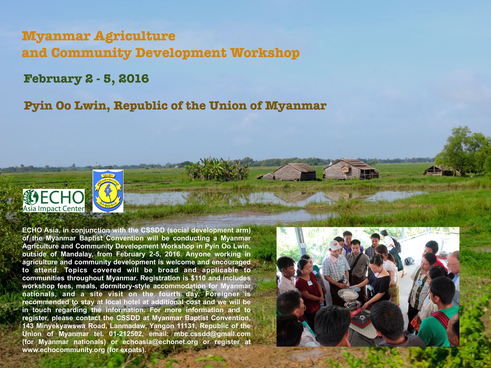 Myanmar Workshop