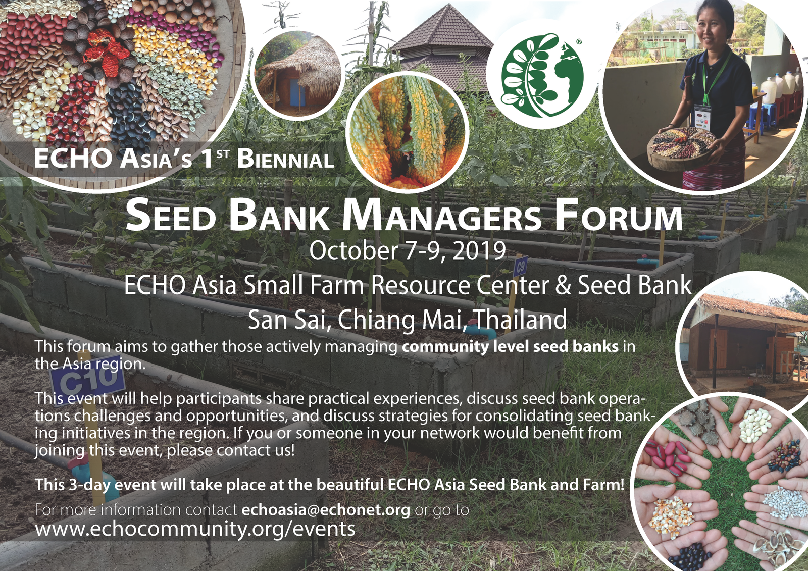 2019 Seed Bank Managers Forum flyer