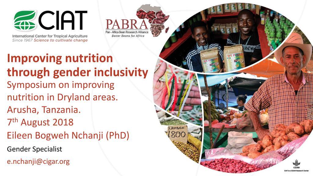 Improving nutrition through gender inclusivity