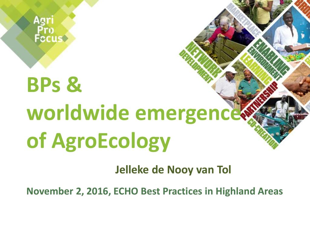 Transition to AgroEcology