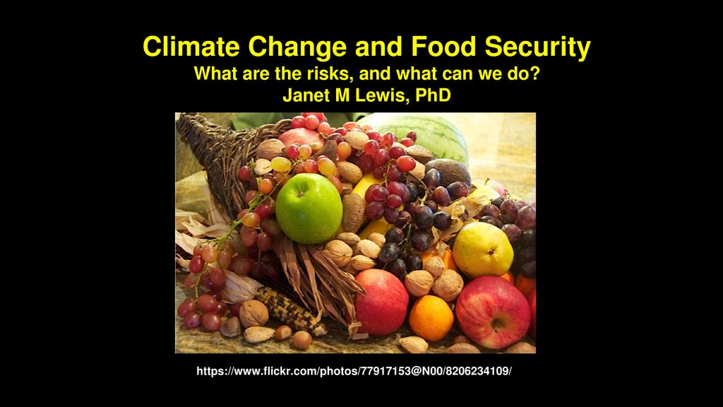 Climate change and food security. What are the risks and how can we prepare?