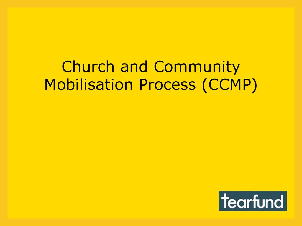 Church and Community Mobilisation Process (CCMP)