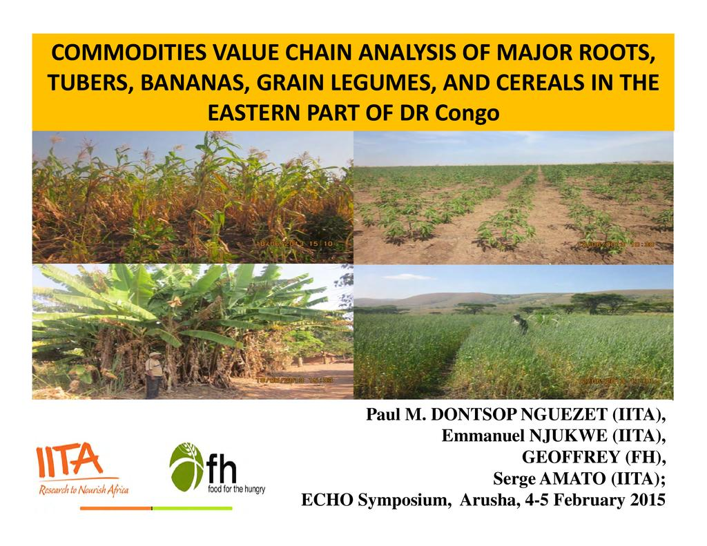Commodities Value Chain Analysis | ECHOcommunity org