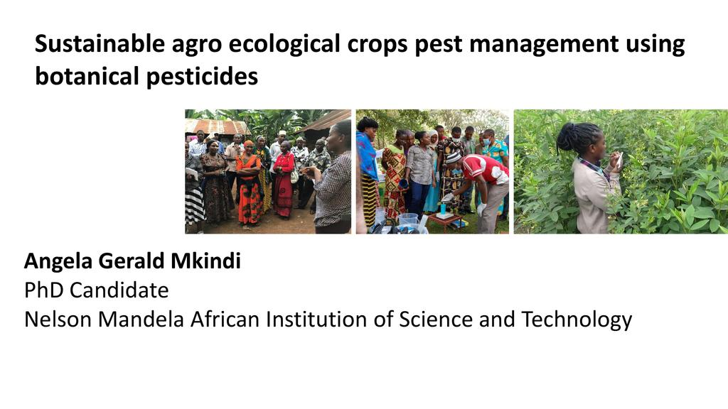 Sustainable agro ecological crops pest management using botanical pesticides & IPM