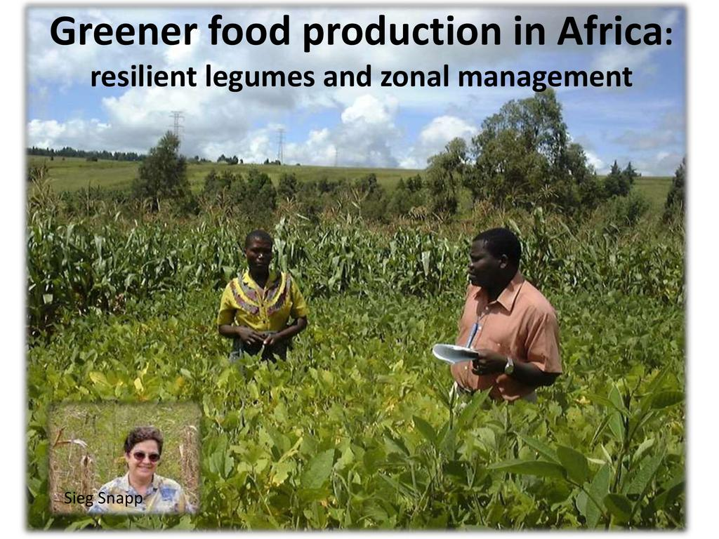 Greener Food Production in Africa Resilient Crops and Zonal Management