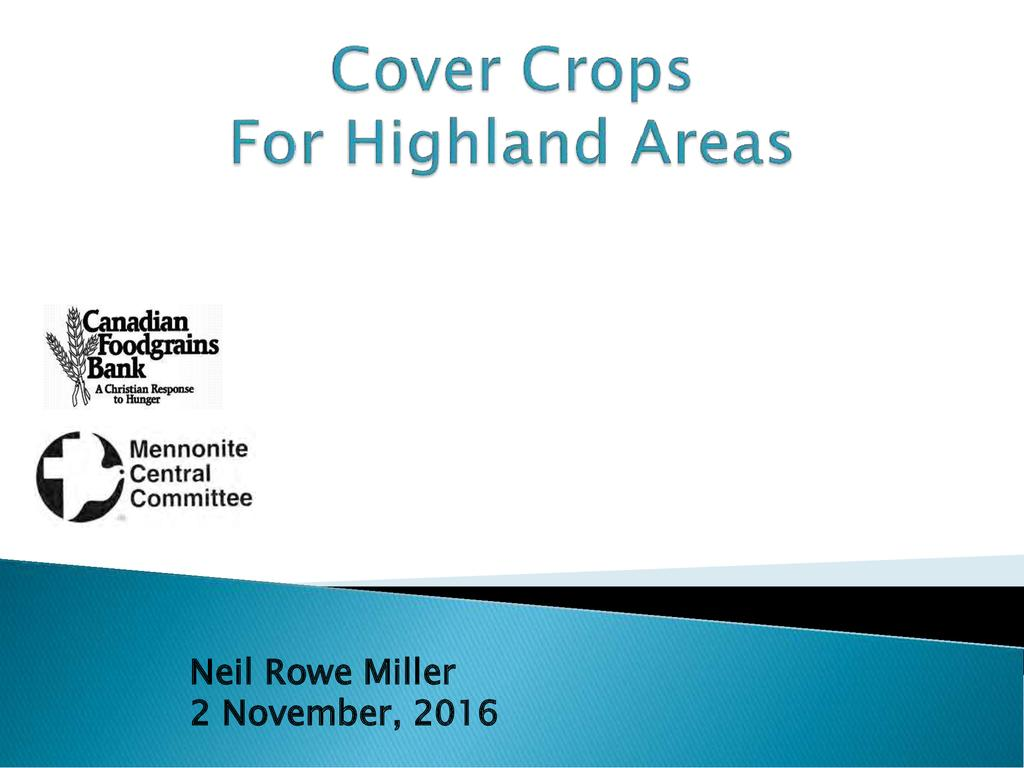 Cover Crops for Highland Areas