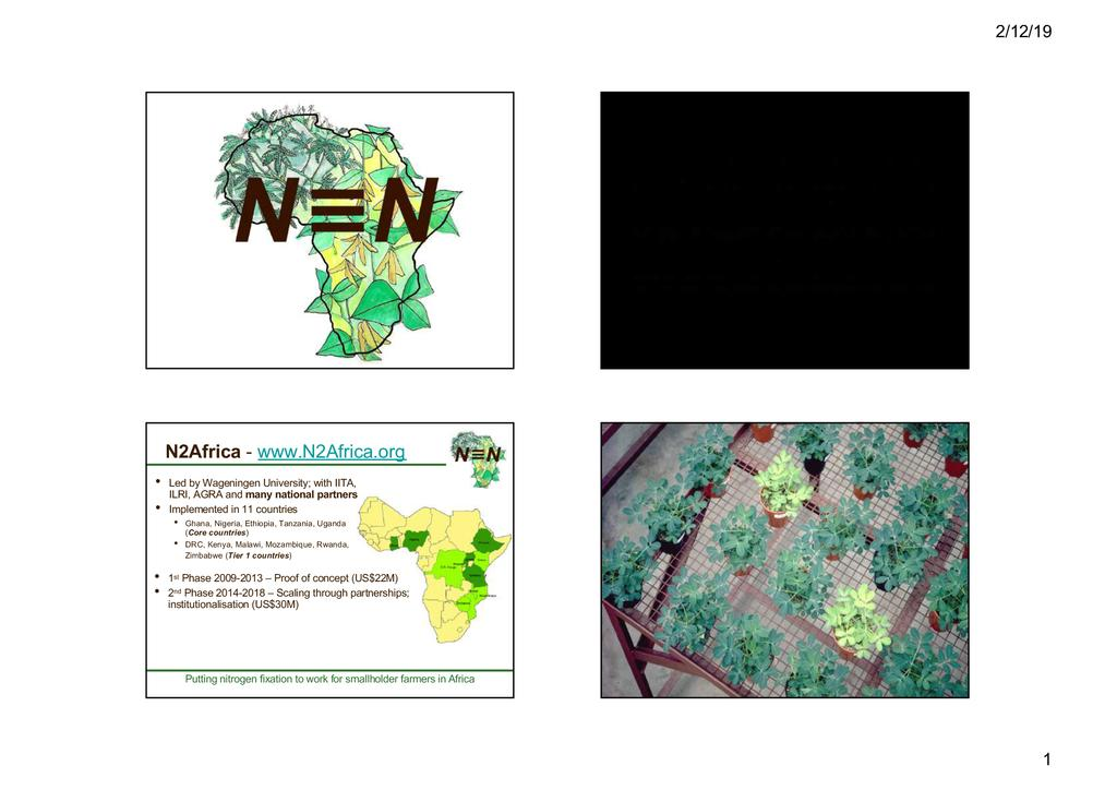 Addressing problems of soil fertility with emphasis on nitrogen fixation by legumes and the temporal and spatial dynamics of local resources