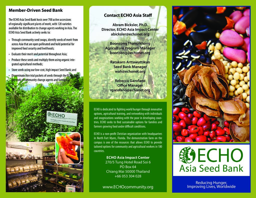 ECHO Asia Seed Bank Brochure