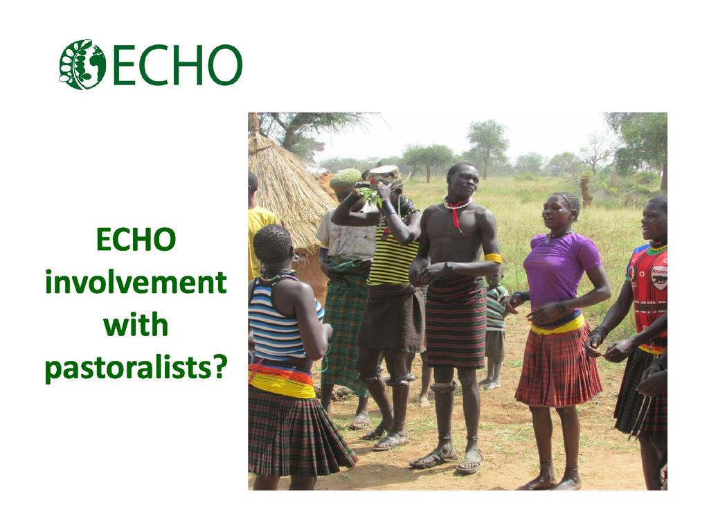 ECHO involvement with pastoralists?
