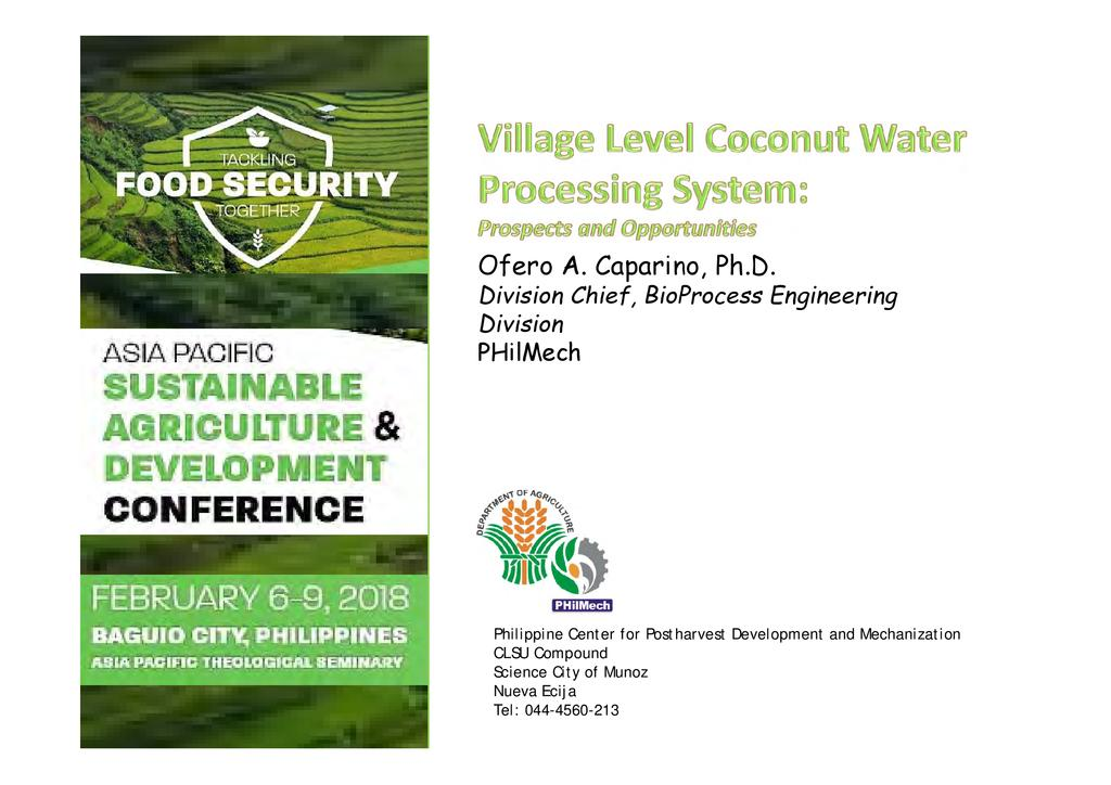 Village level coconut water processing system  0