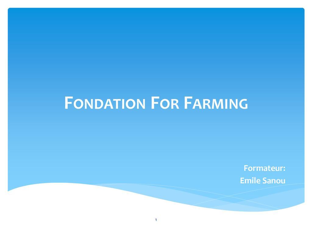 Fondements de l'agriculture