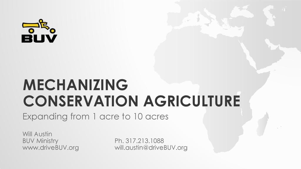 Mechanization of Conservation Agriculture