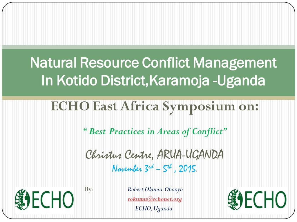 Natural resource conflict management