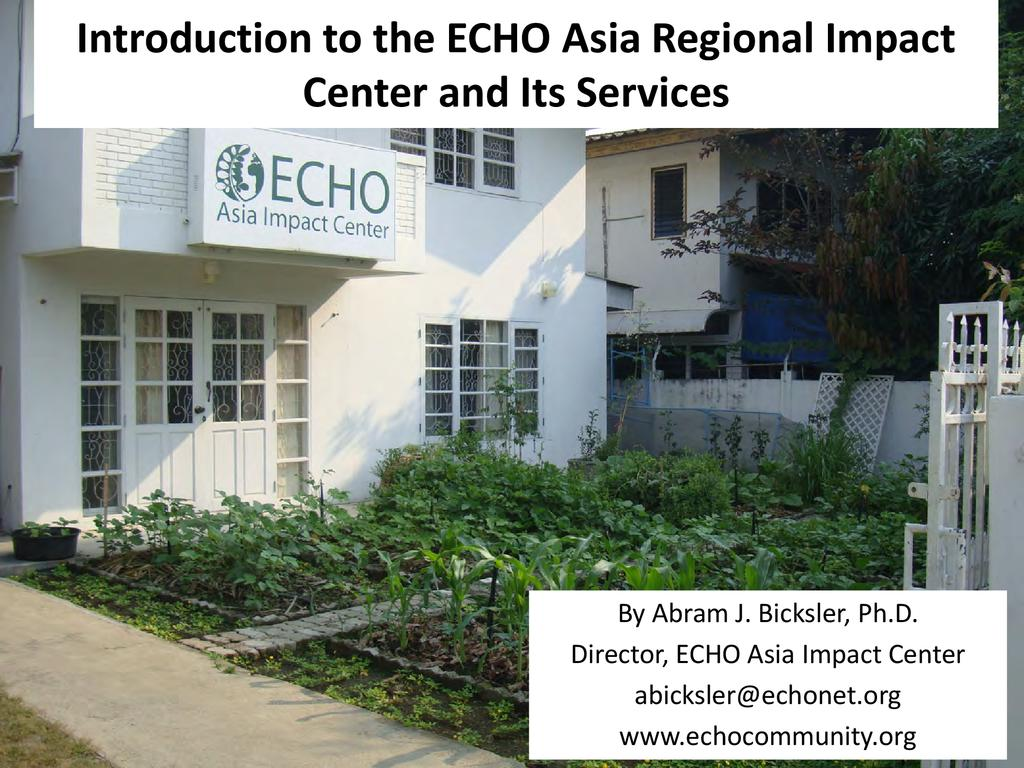 An Introduction to ECHO Asia's Services
