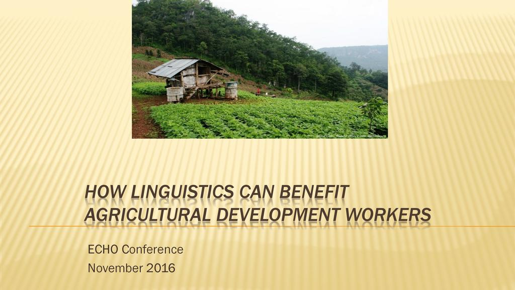 How linguistics can benefit agricultural development workers