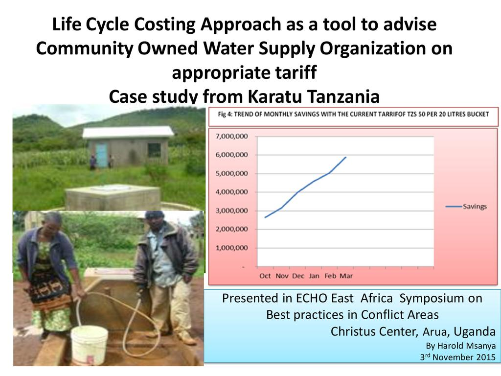 Life-cycle costing approach for community-owned water supply – a case study