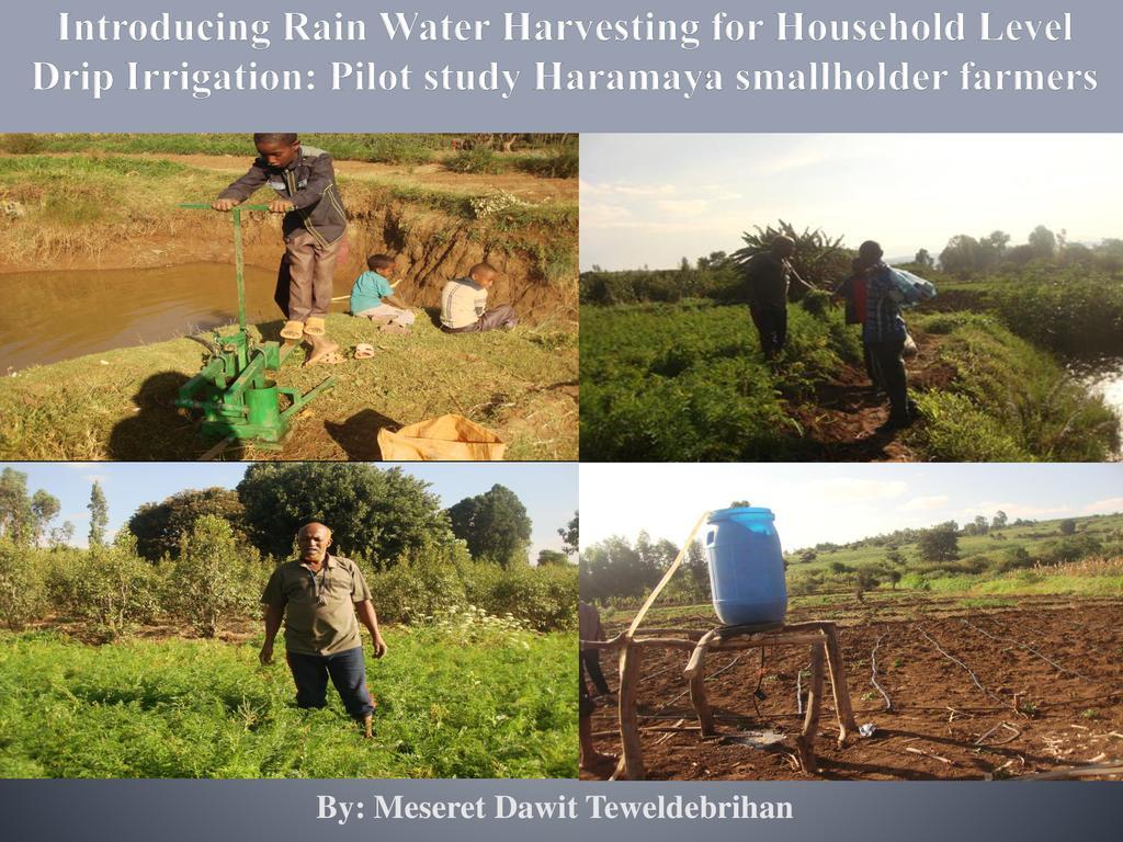 Water harvesting technologies