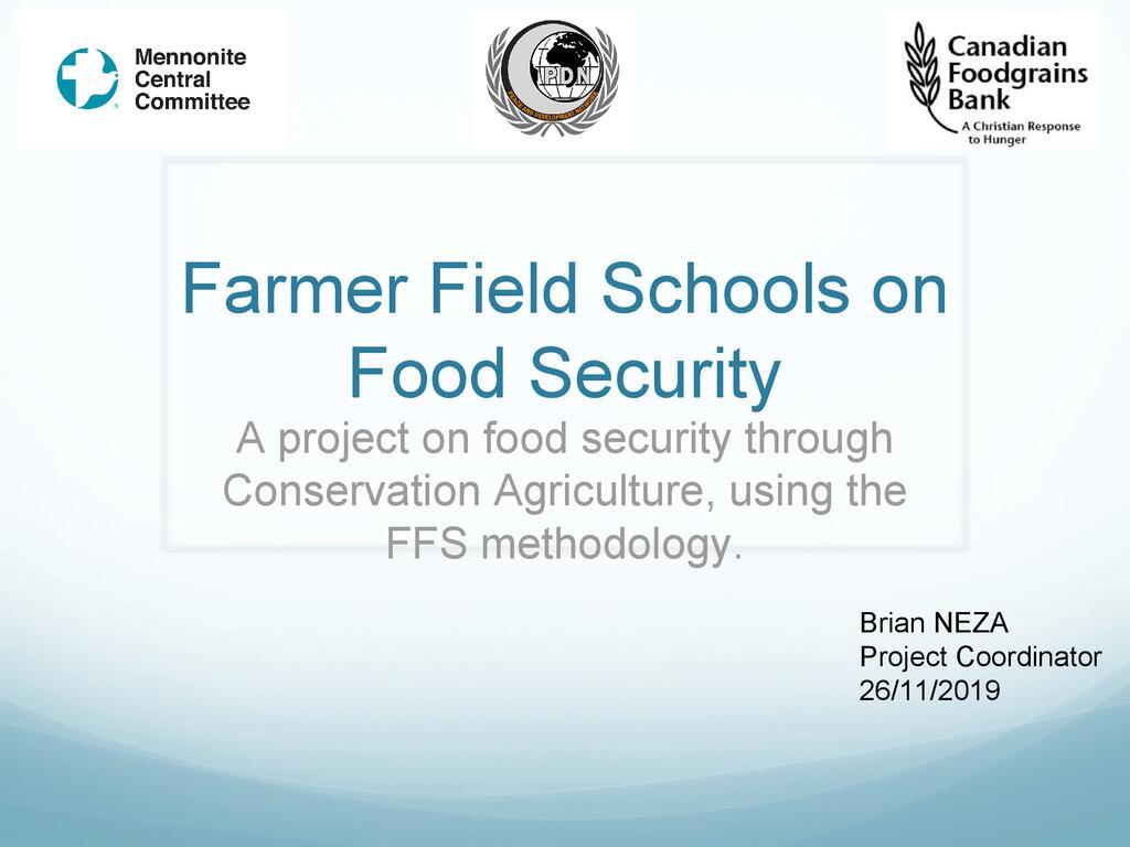 Farmer Field Schools (FFS) approach to food security