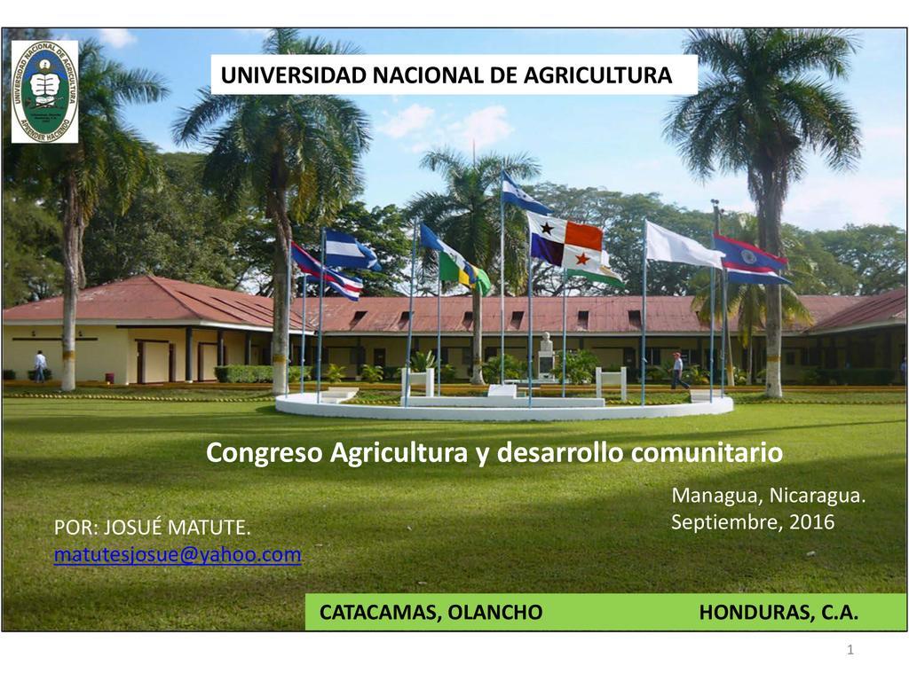 El papel de la Universidad Nacional de Agricultura en el Desarrollo Rural de Hoduras