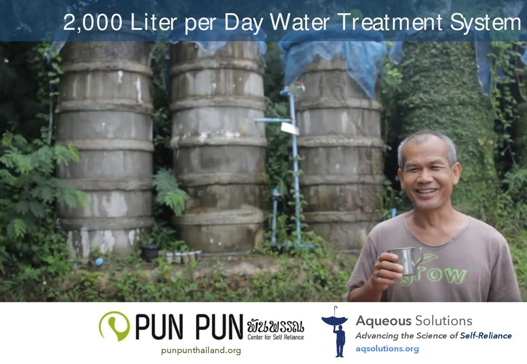 Water treatment system 2 000 liters per day  0