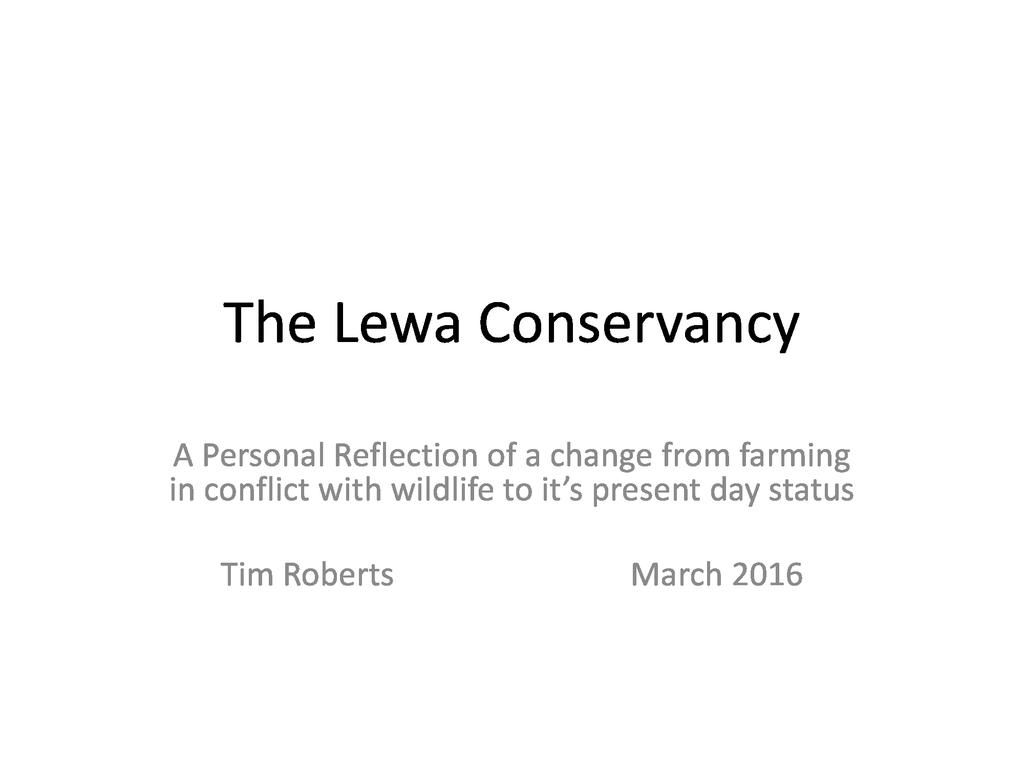 The Lewa Conservancy
