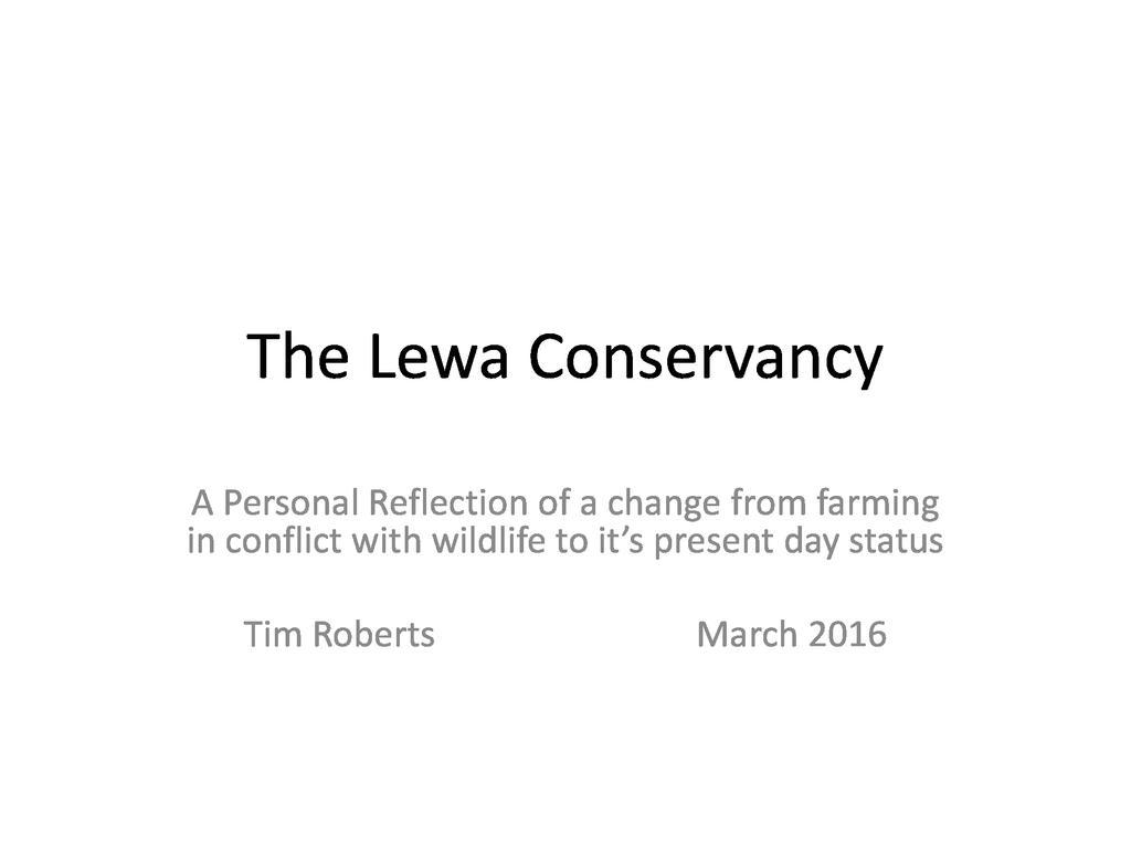 The Lewa Conservancy