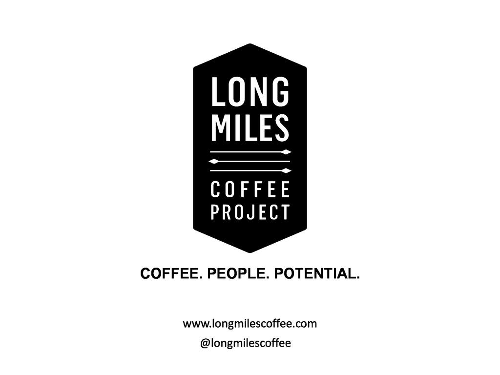 Long Miles Coffee's approach to making markets to work for farmers