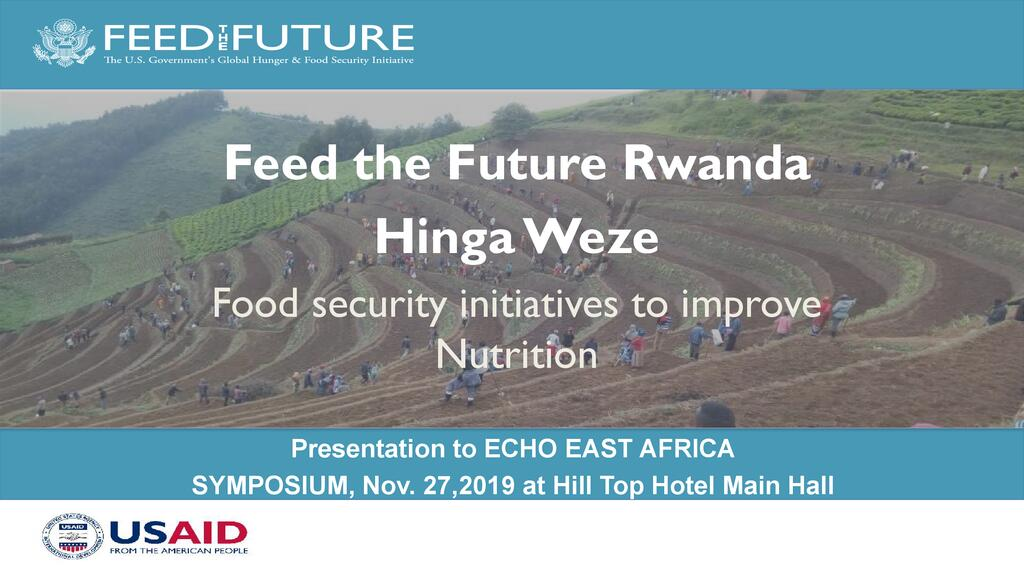 Food security initiatives to improve nutrition