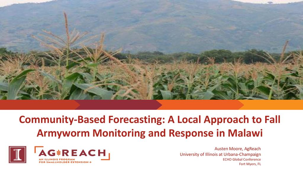 Farmer resilience and innovation through community-based Fall Armyworm Control