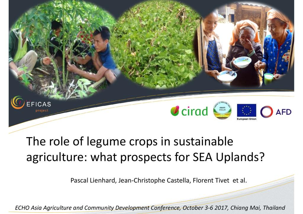 The Role of Legume Crops in Sustainable Agriculture: Prospects for SE Asian Uplands