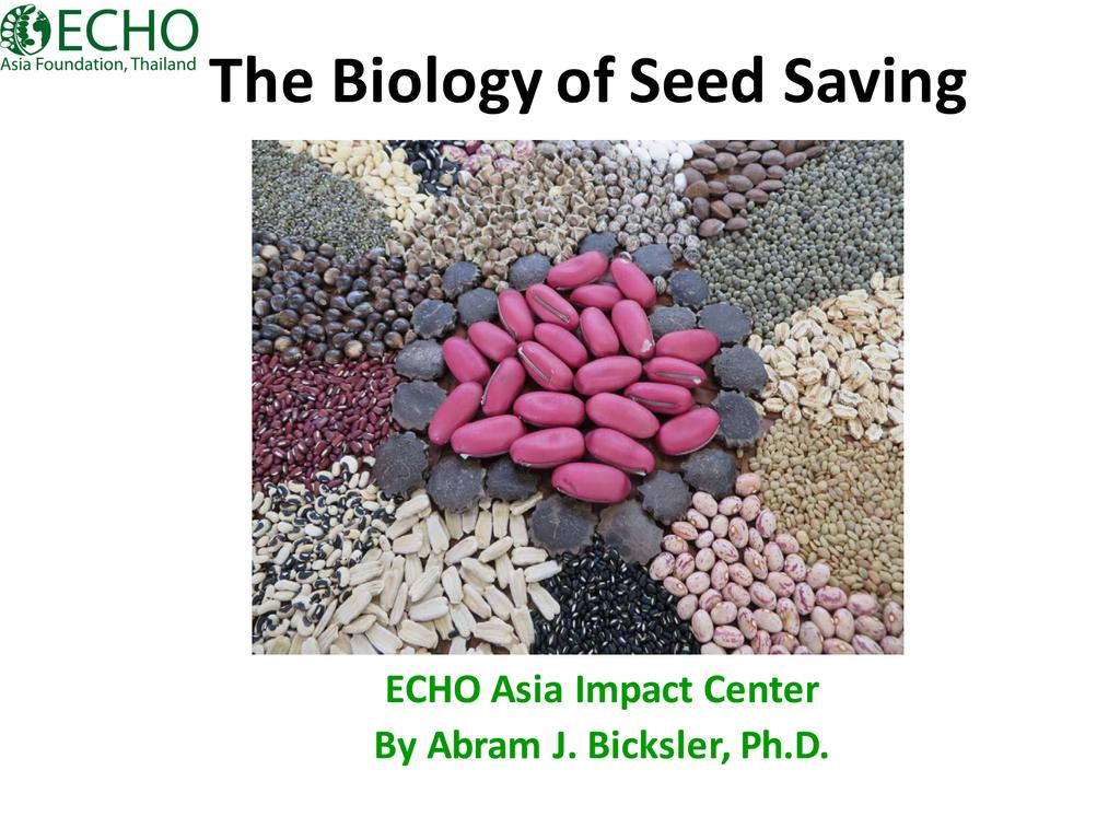 Biology of Seed Saving