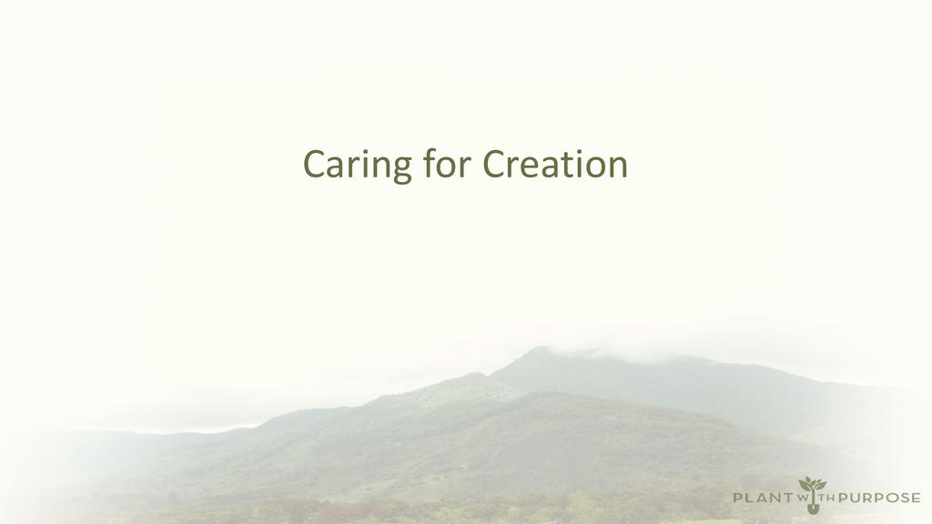 Creation care through agricultural development