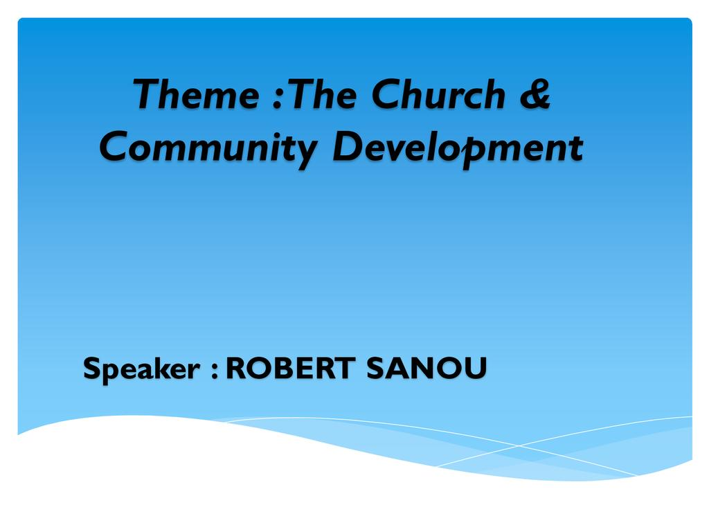 Church and Community Development
