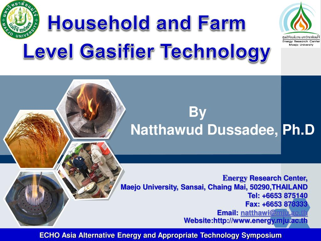 Household and Farm Level Gasifier Technology