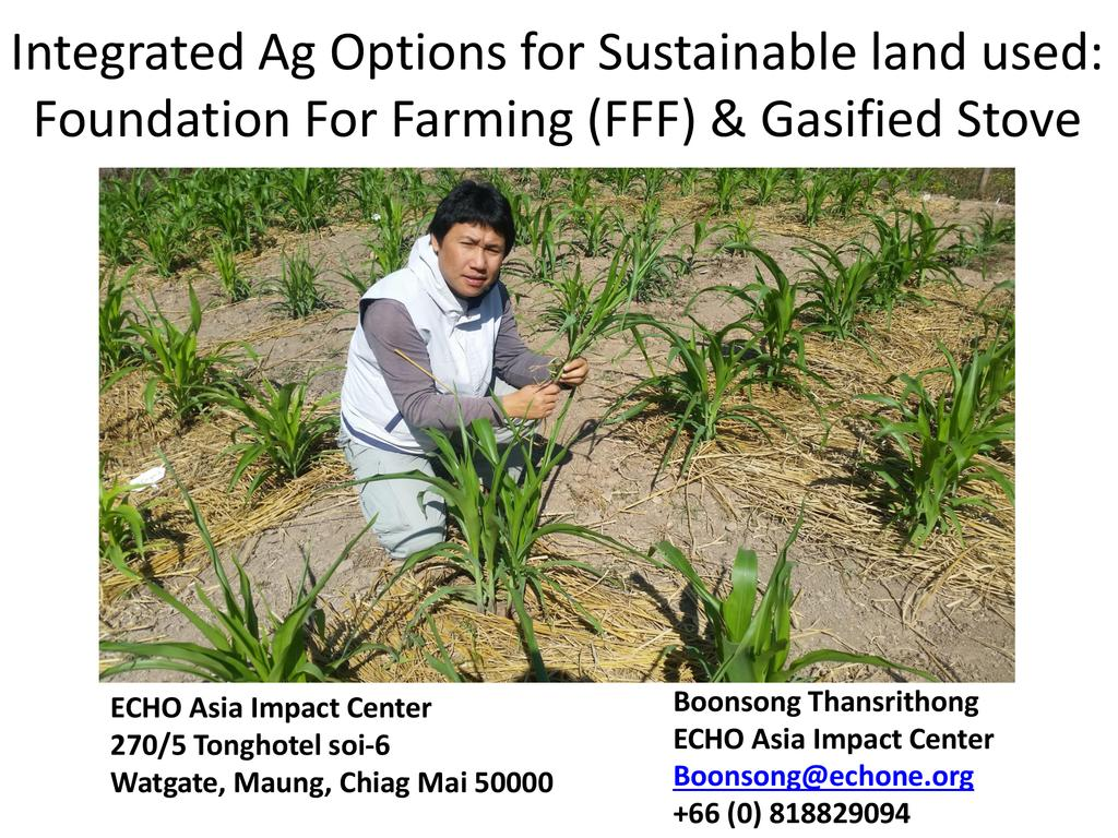 Foundations for Farming & Gassifier Stoves