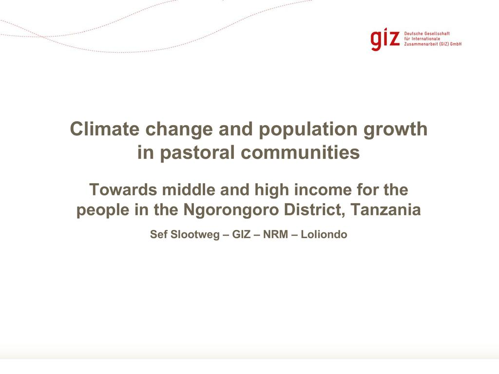 Climate change and population growth in pastoral communities
