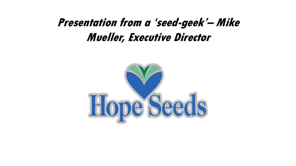 Seed2Save – an 'old school' approach to vegetable seed development
