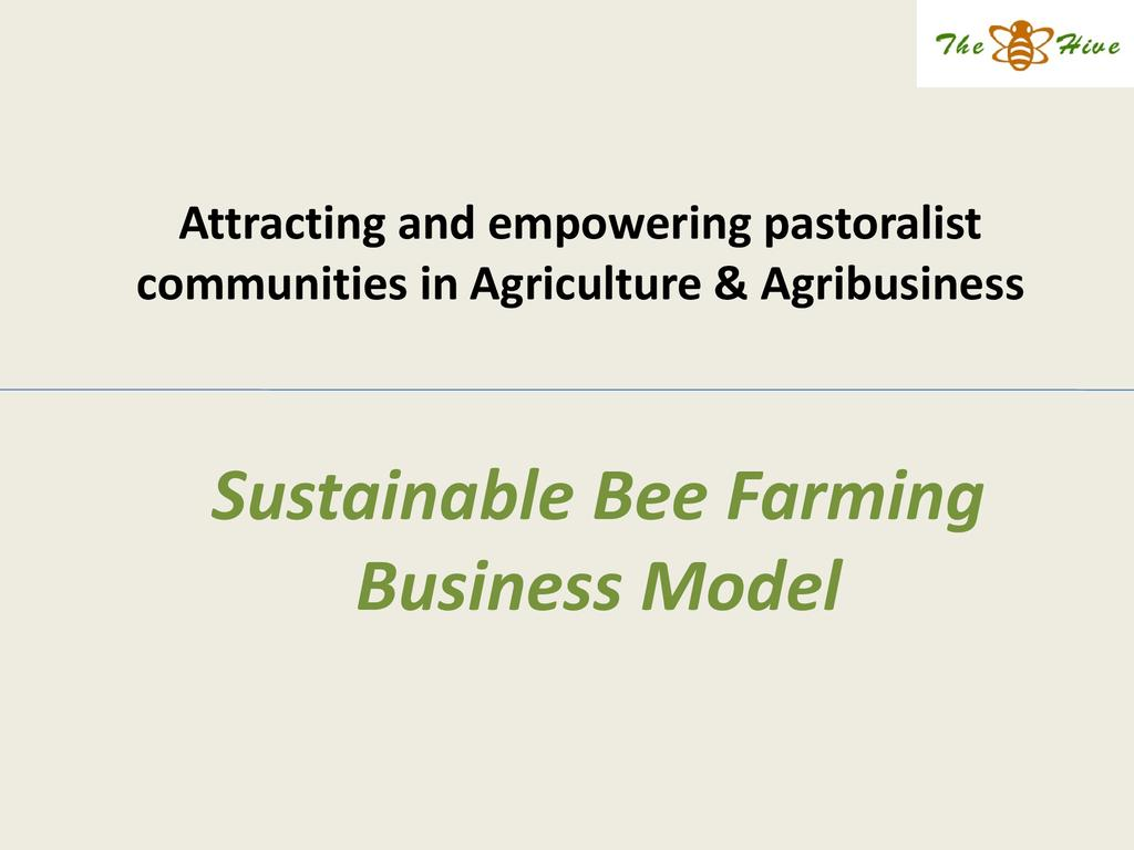 Sustainable Bee Farming Business Model