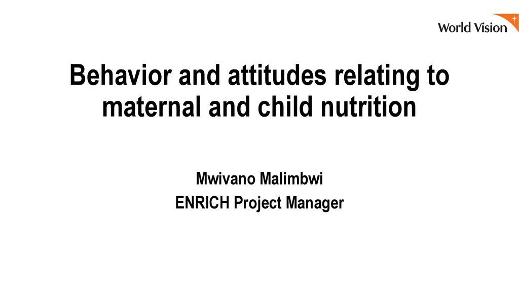Positive attitudes and behaviors that promote nutrition
