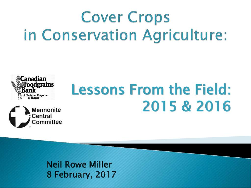 Green Manure Cover Crops in Conservation Agriculture