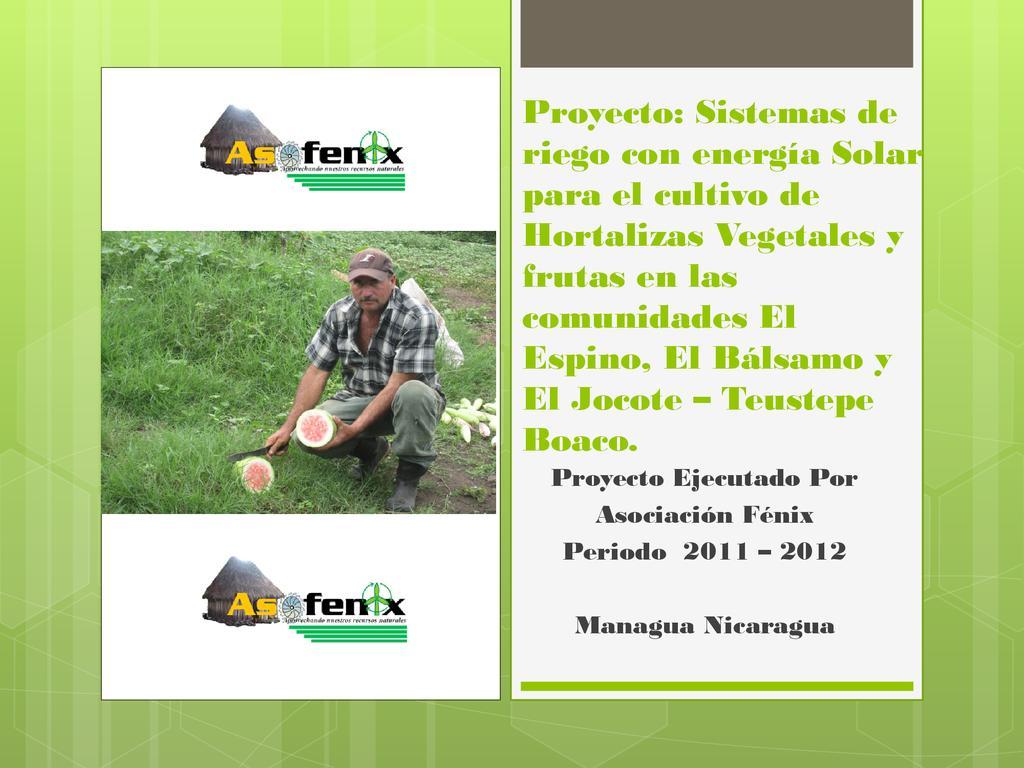 Proyecto de Riego - Asofenix