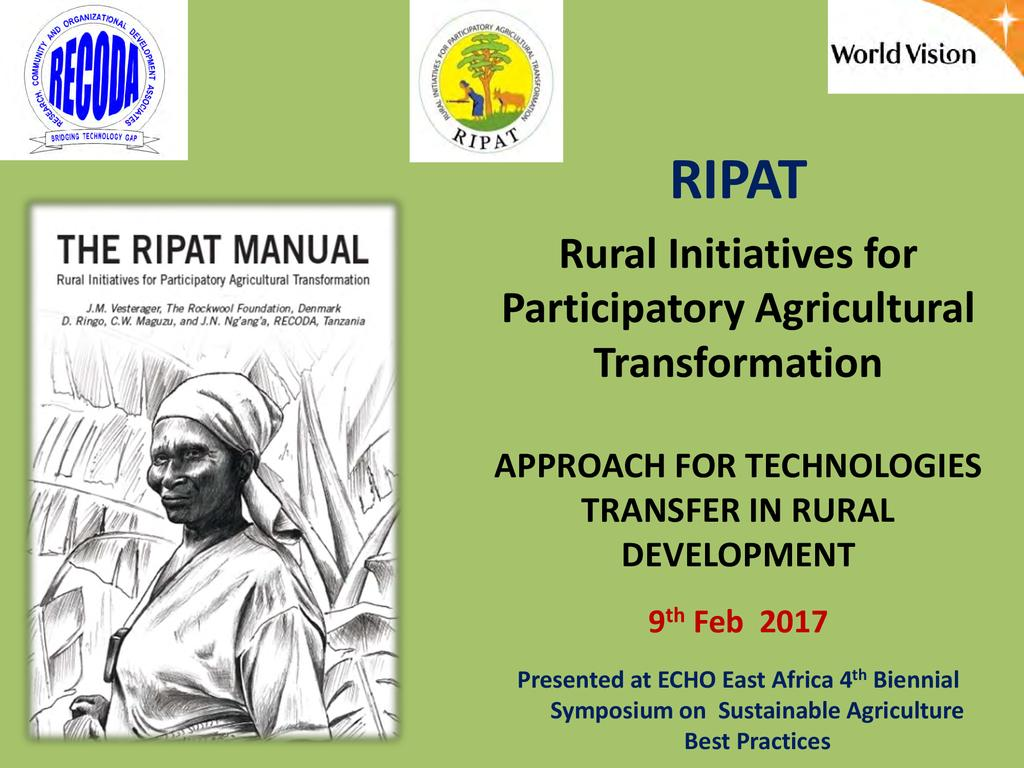 RIPAT – A Menu Approach in Rural Food Security Promotion