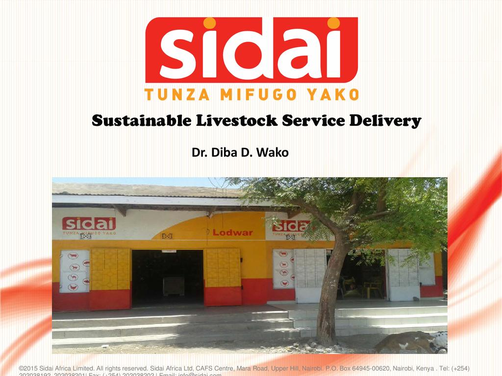 Sustainable Livestock Service Delivery