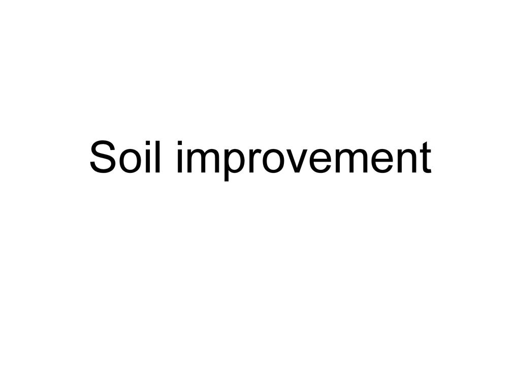 Soil Improvement Workshop