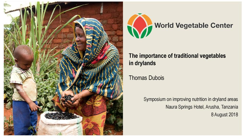 The importance of traditional vegetables in drylands